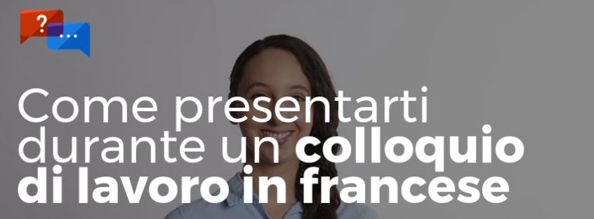 colloquio di lavoro in francese