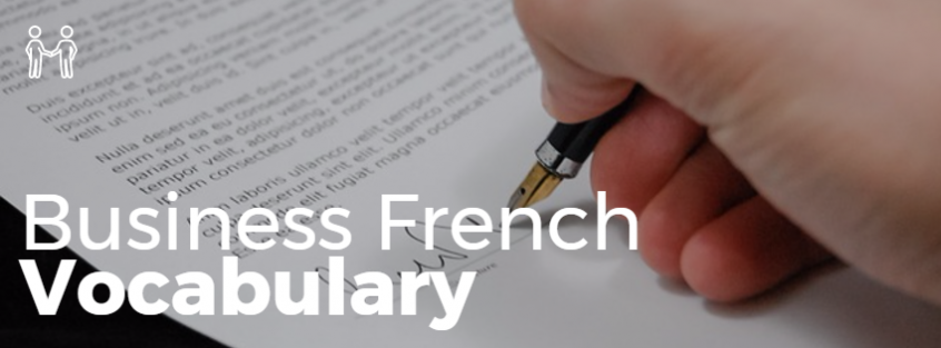 French business Vocabulary