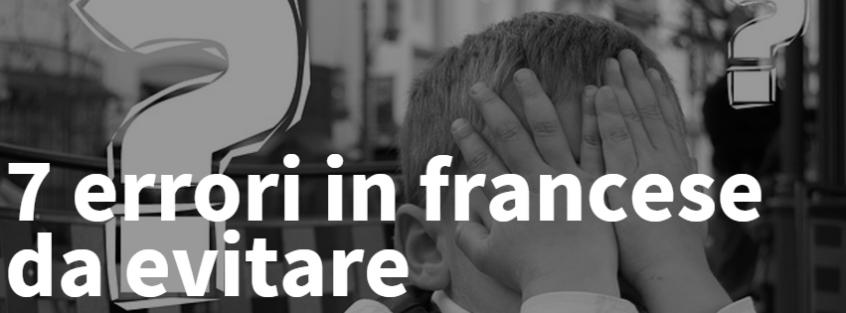 7 errori in francese