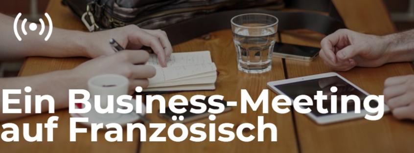Ein Business-Meeting auf Französisch