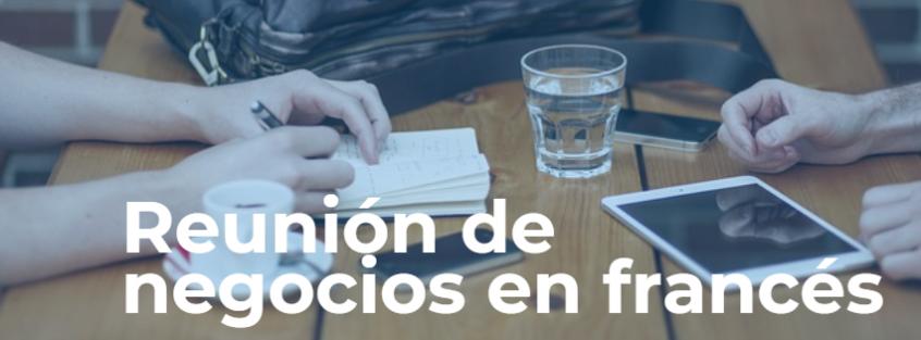reunión de negocios en francés